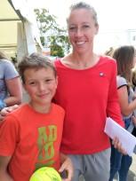 Nathan avec Pauline Parmentier